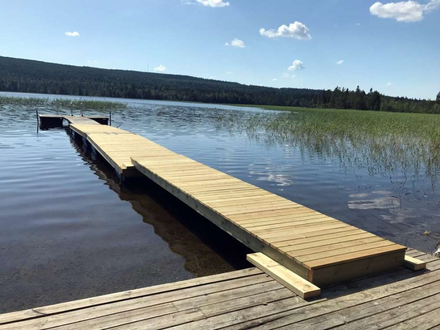 Bad Borgsjö Brygga Borgvattnet